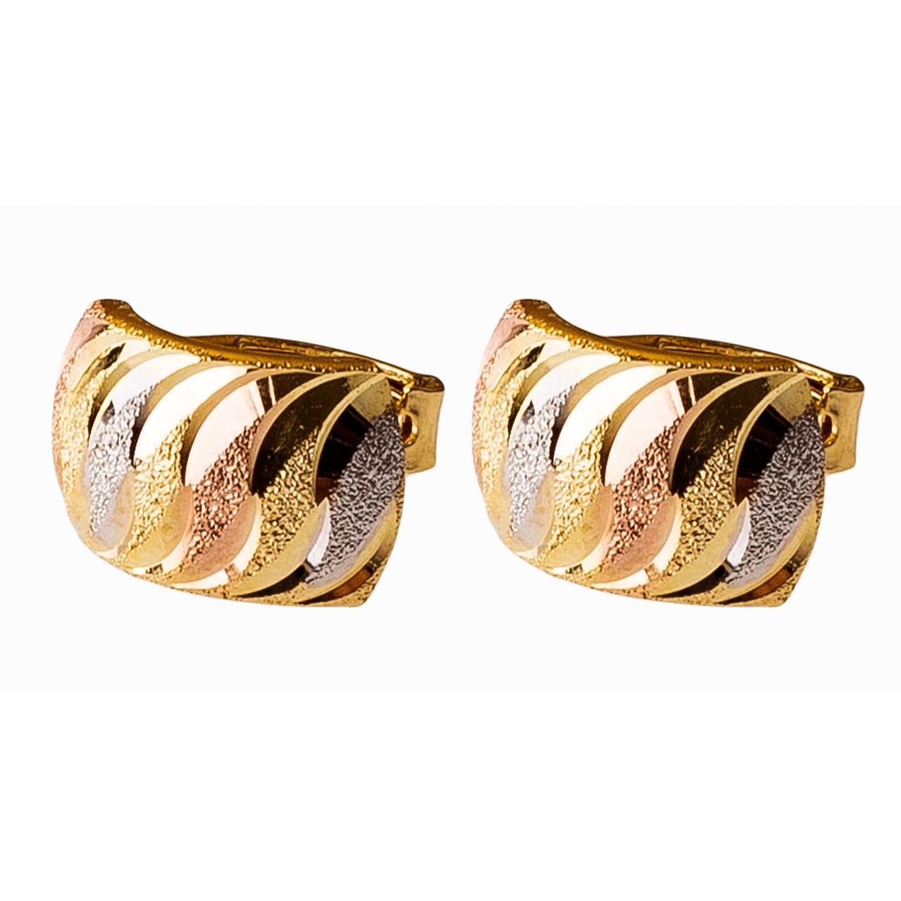 قیمت گوشواره طلا 18 عیار گالری طلاچی مدل  11