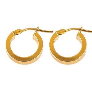 گوشواره  طلا 18 عیار گالری طلاچی مدل حلقه ای12