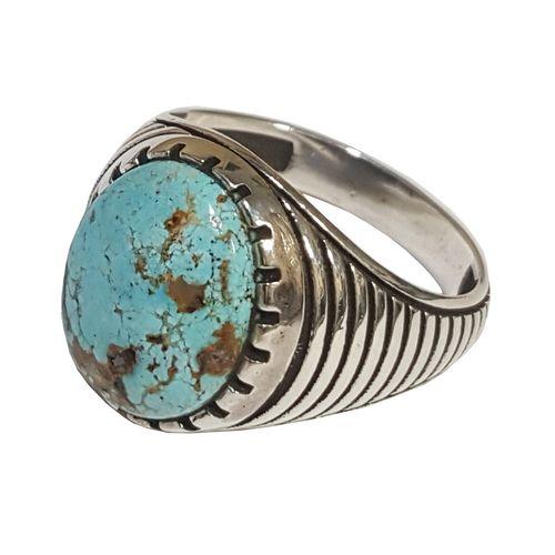 انگشتر نقره مردانه بلو استون کد 3971083