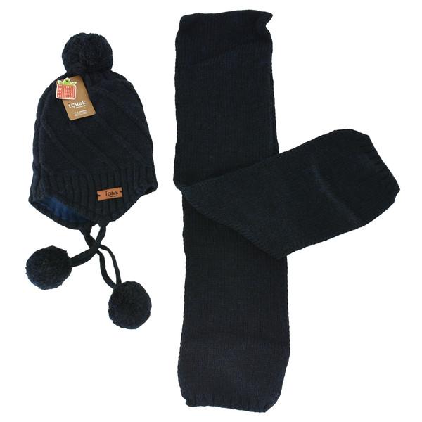 ست کلاه و شال گردن بچگانه آی چیلک مدل IC023