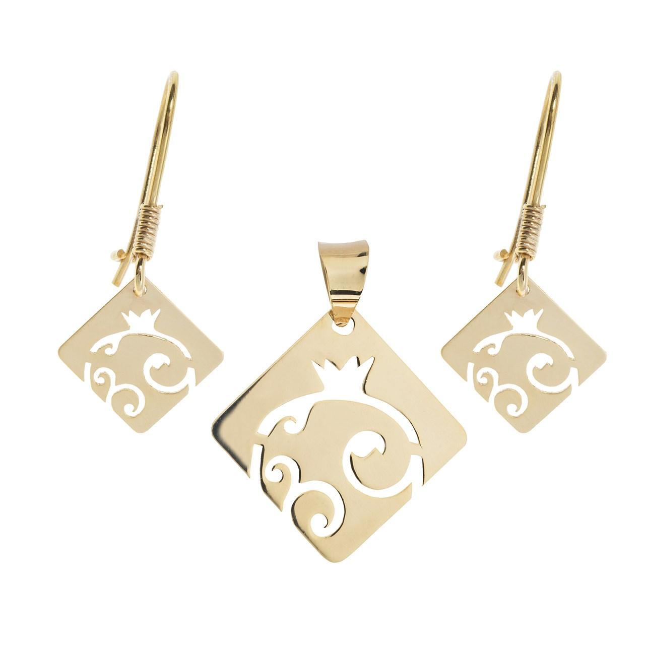 قیمت نیم ست طلا 18 عیار ماهک مدل MS0058 - مایا ماهک