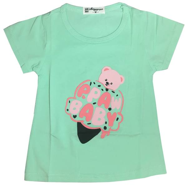 تی شرت دخترانه بستنی قیفی مدل G315