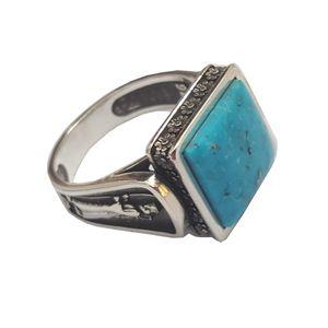 انگشتر نقره بلو استون کد 3971078