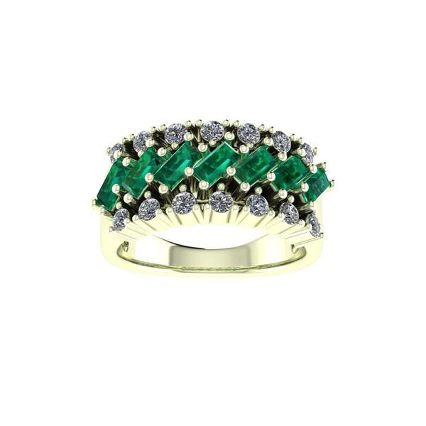 انگشتر طلا اونیکست مدل 2281 Emerald
