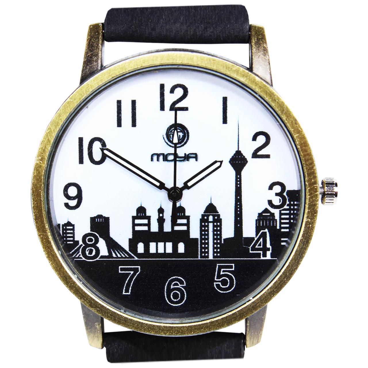 ساعت مچی عقربه ای  مردانه و زنانه طرح شهر کد 01 15