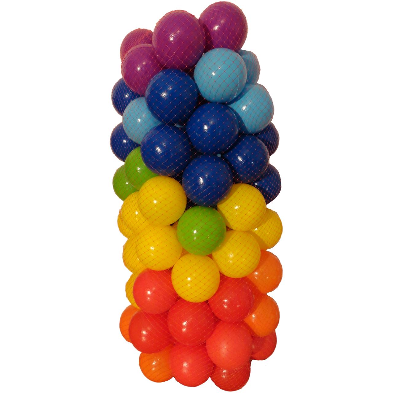 خرید                     توپ استخر مدل PONY بسته 100 عددی سایز C