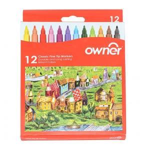 ماژیک رنگ آمیزی اونر مدل Classic Fine Tip 12 Colors - بسته 12 رنگ