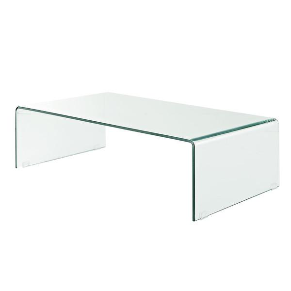 میز جلو مبلی شیشه خم اطلس 12 میل طول 110 سانتی متر
