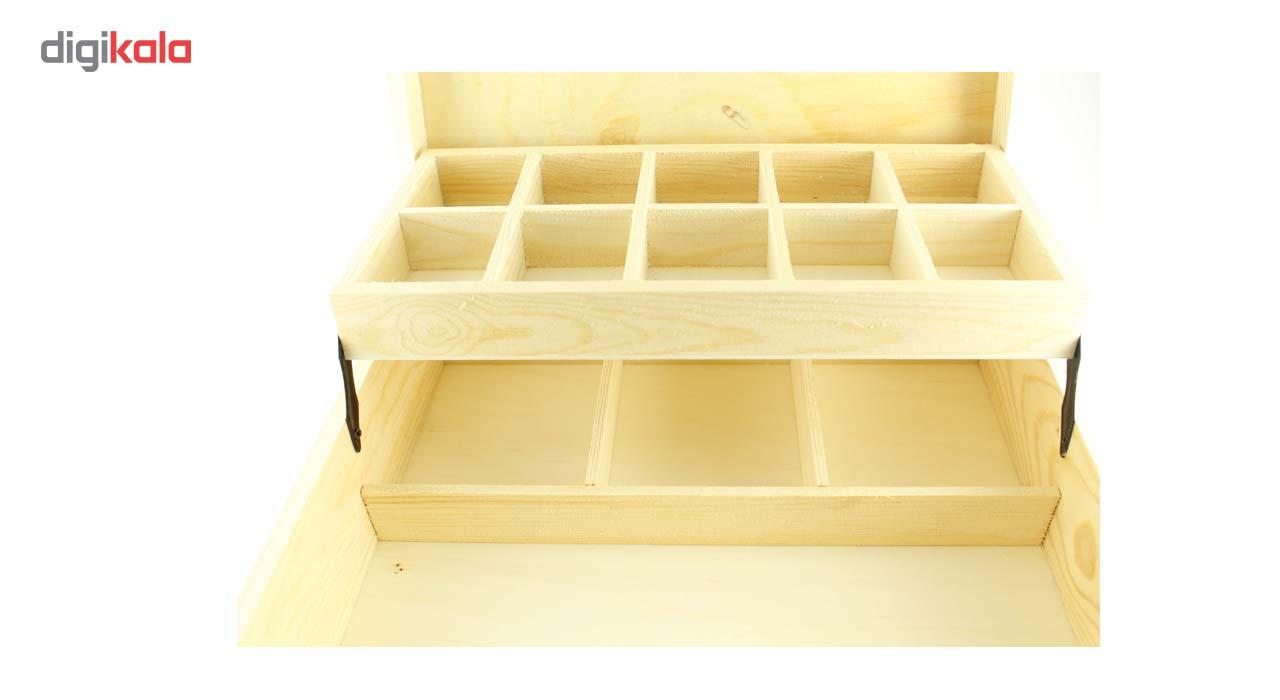 جعبه چوبی ارت کیوب مدل دو طبقه