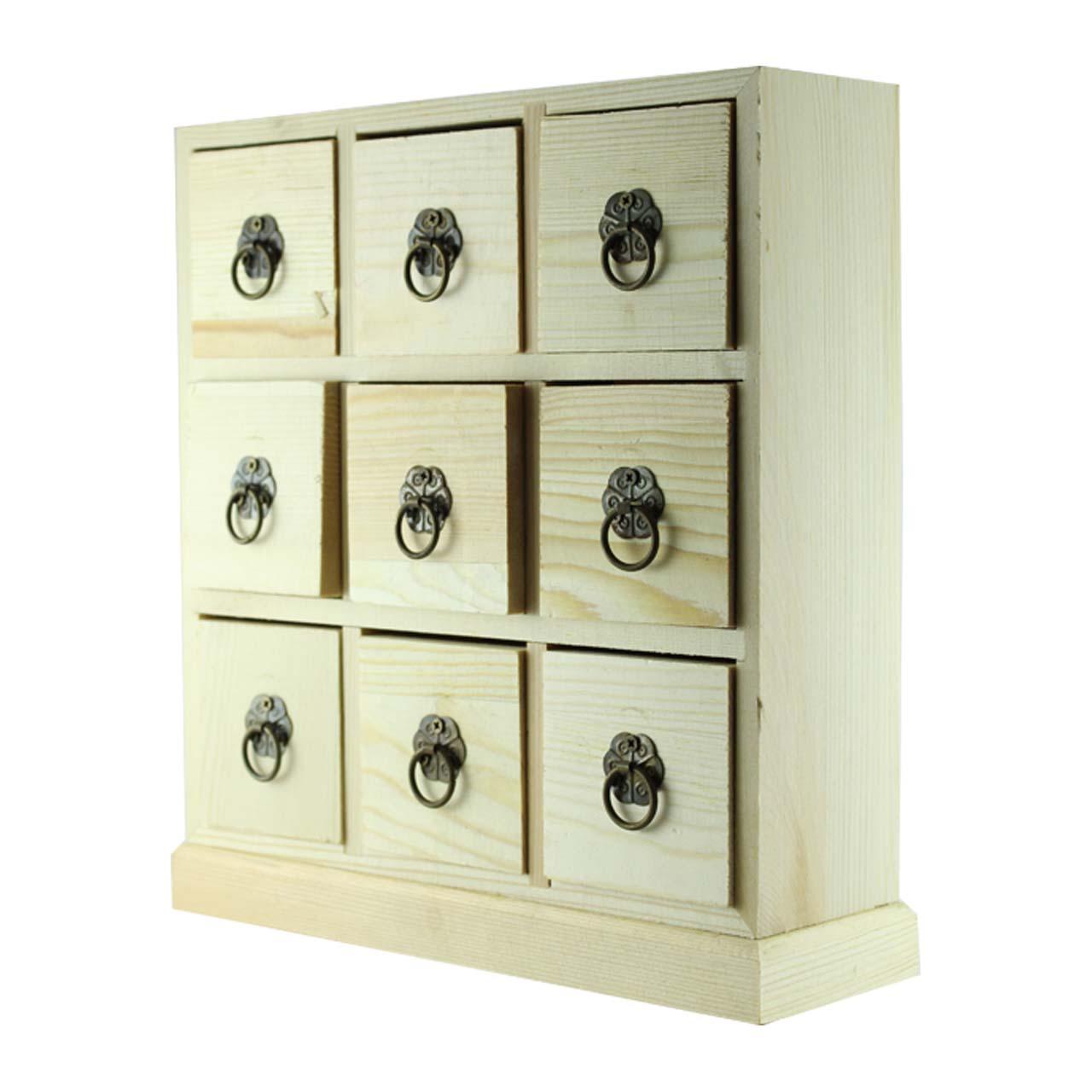 جعبه چوبی ارت کیوب مدل 9 خانه