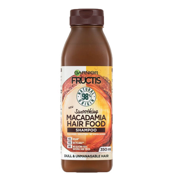شامپو مو گارنیه مدل Fructis Macadamia حجم 350 میلی لیتر