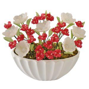 گلدان به همراه گل مصنوعی دست ساز سی دا کد CR01131g