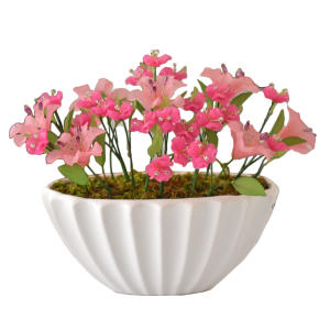 گلدان به همراه گل مصنوعی دست ساز سی دا کد CR01131f
