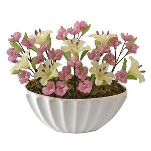 گلدان به همراه گل مصنوعی دست ساز سی دا کد CR01131h