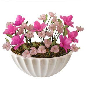 گلدان به همراه گل مصنوعی دست ساز سی دا کد CR01131i