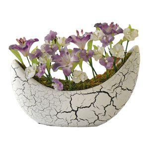 گلدان به همراه گل مصنوعی دست ساز سی دا کد CR01143a