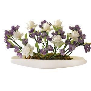گلدان به همراه گل مصنوعی دست ساز سی دا کد CR01144a