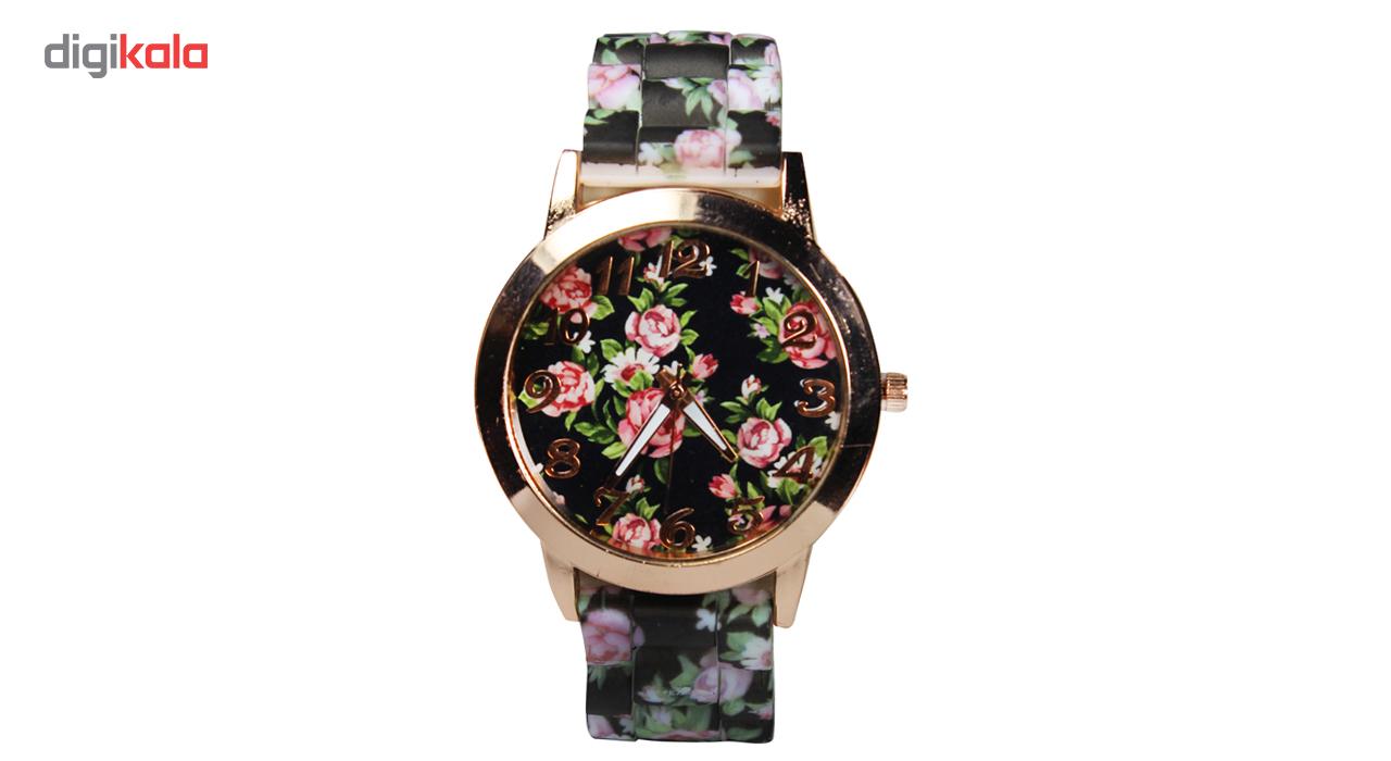 ساعت مچی عقربه ای زنانه مدل Flower-02