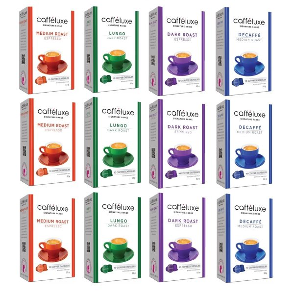 کپسول قهوه دستگاه نسپرسو مدل کافه لوکس مجموعه 12 عددی