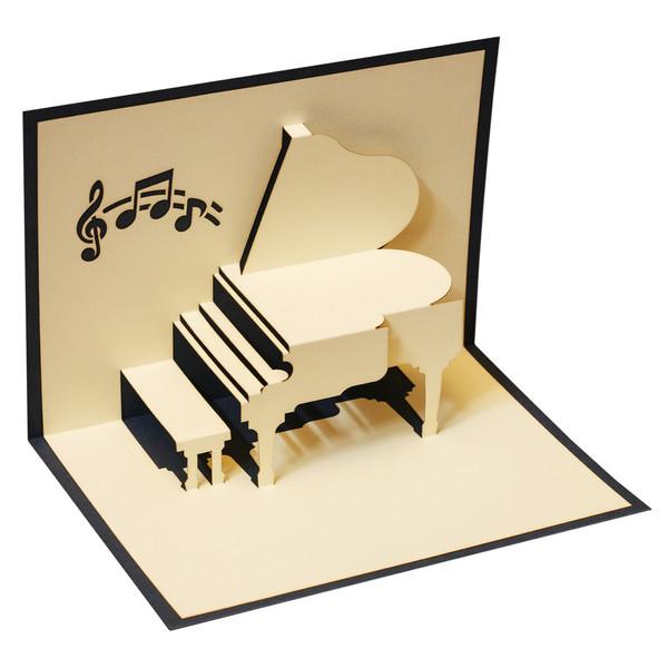 کارت پستال گروه هنری ارژنگ طرح پیانو کد CR009d