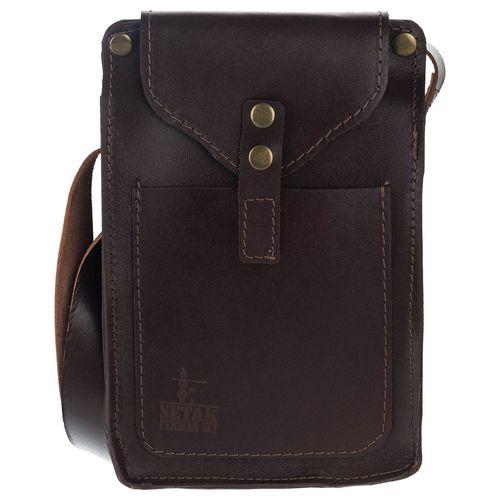 کیف دوشی چرم طبیعی گالری ستاک مدل اسپرت
