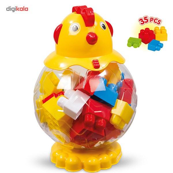بلوکهای ساختنی 35 تکه دولو  مدل Hen Big Color Blocks کد 5030