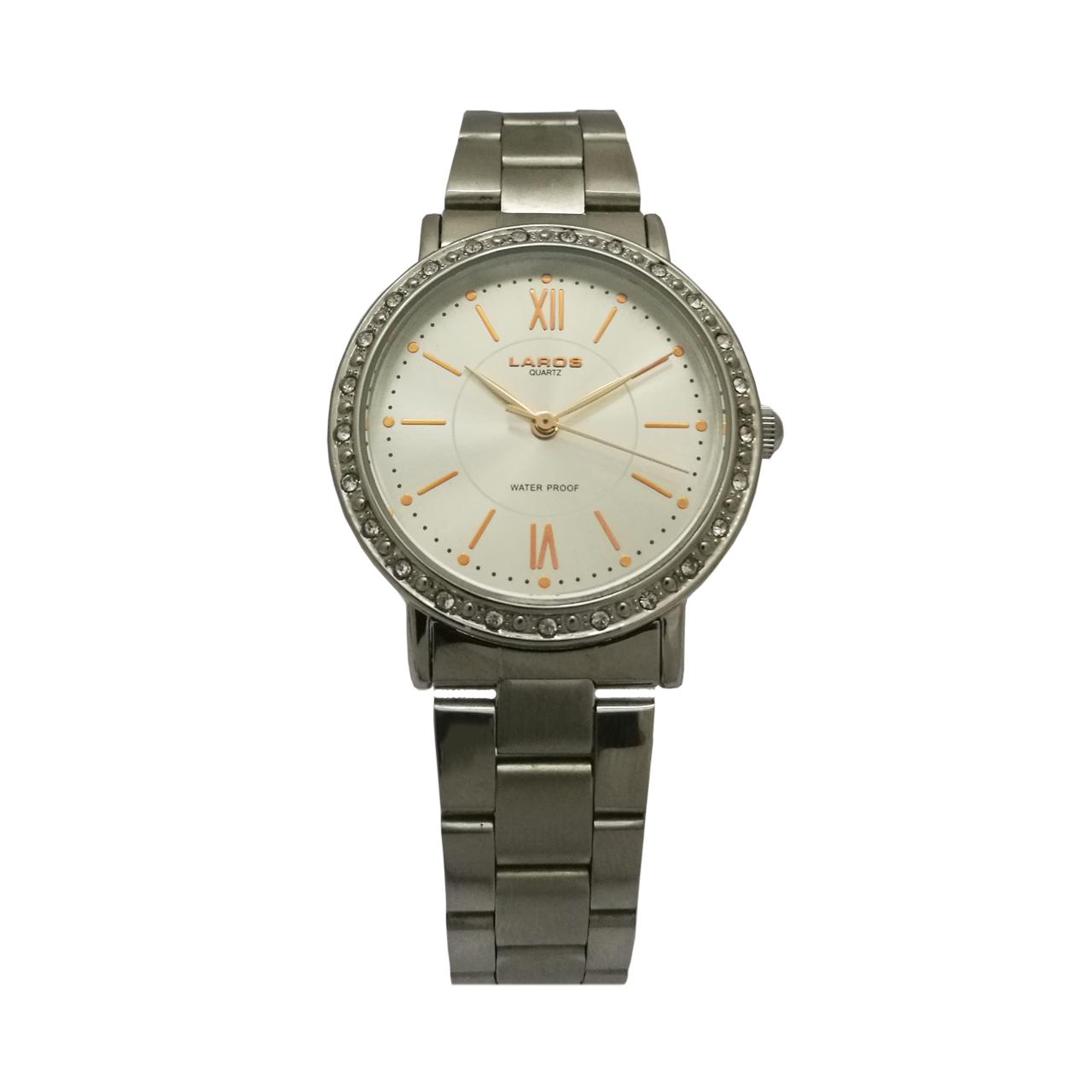 ساعت مچی عقربه ای زنانه نقره ای لاروس مدل 0417-79820