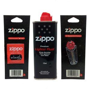 مجموعه سه عددی فیتیله و سنگ فندک و بنزین زیپو مدل AY257