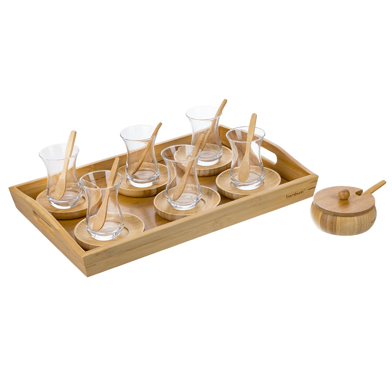 سرویس چای خوری 22 پارچه بامبوم مدل BB2799
