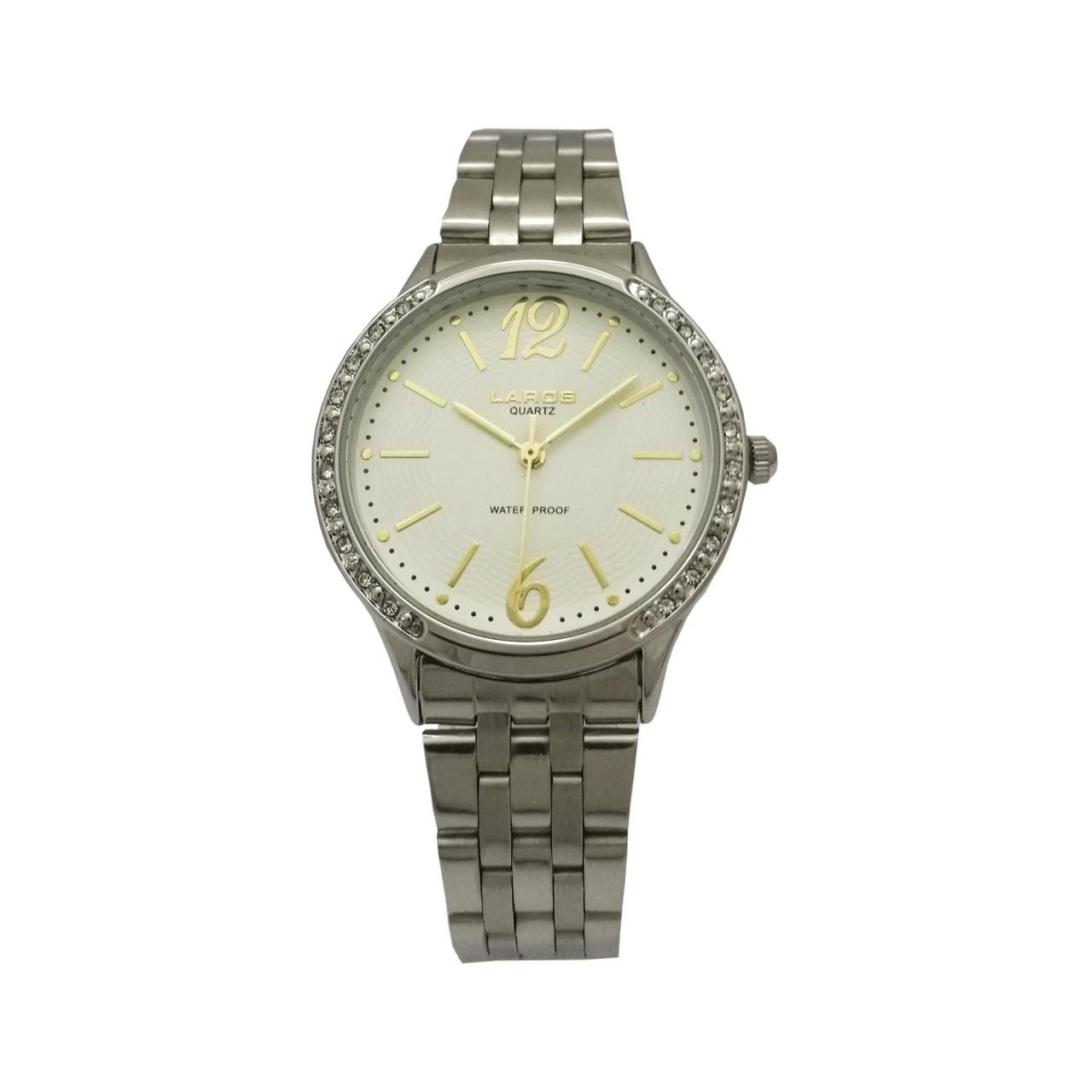 ساعت مچی عقربه ای زنانه نقره ای لاروس مدل 0816-79886