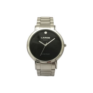 ساعت مچی عقربه ای مردانه صفحه مشکی لاروس مدل 0617-79457