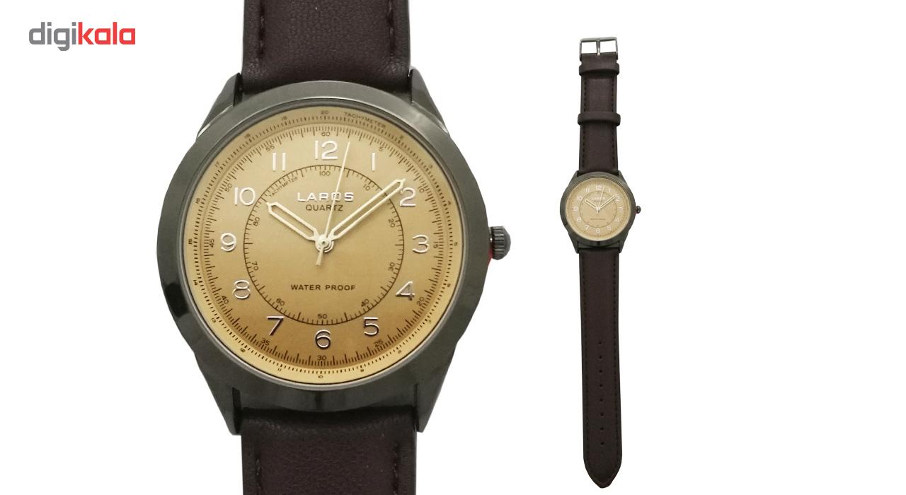 ساعت مچی عقربه ای مردانه چرمی لاروس مدل 0817-80047-s