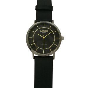 ساعت مچی عقربه ای مردانه چرمی لاروس مدل0917-80077-s