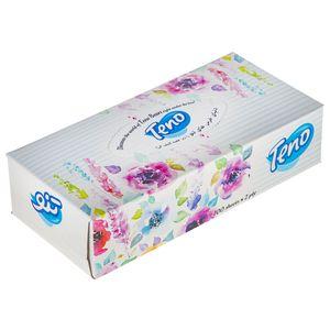 دستمال کاغذی 100 برگ تنو طرح گل درشت