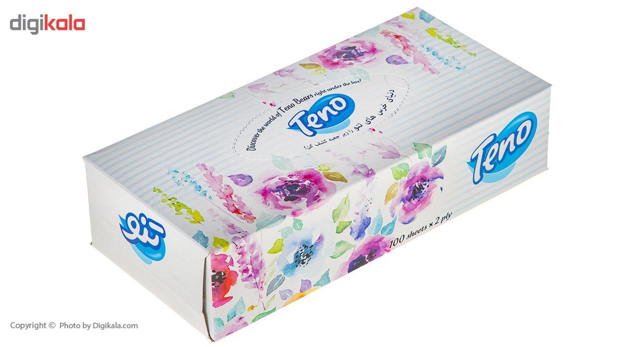 دستمال کاغذی 100 برگ تنو طرح گل درشت main 1 1