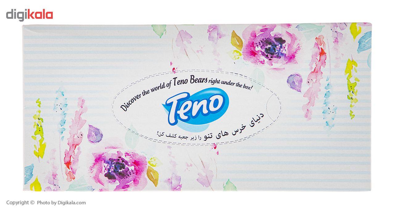 دستمال کاغذی 100 برگ تنو طرح گل درشت main 1 2