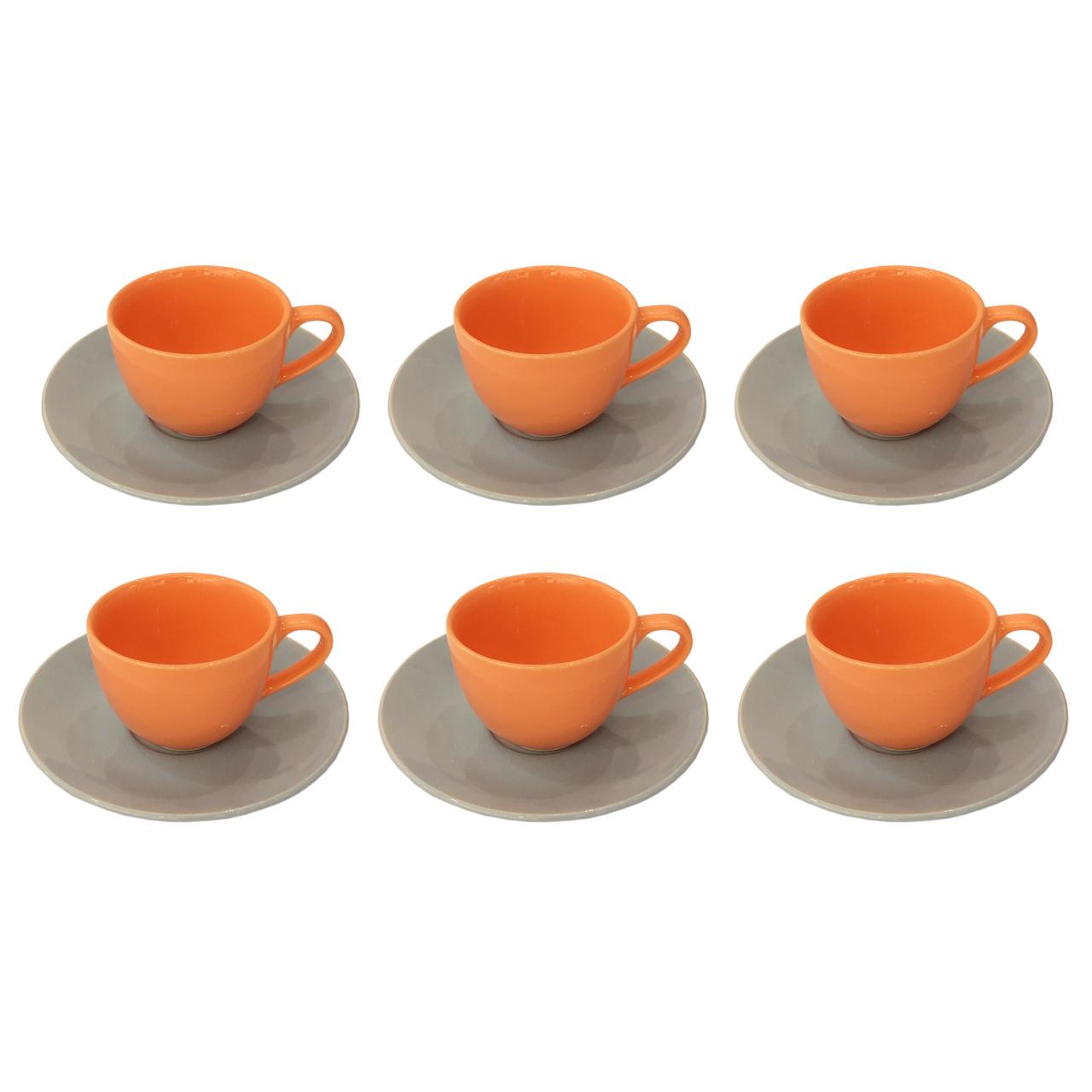 سرویس چای خوری 12 پارچه پرسلو سری Romez مدل آبی گلبهی ساده درجه یک