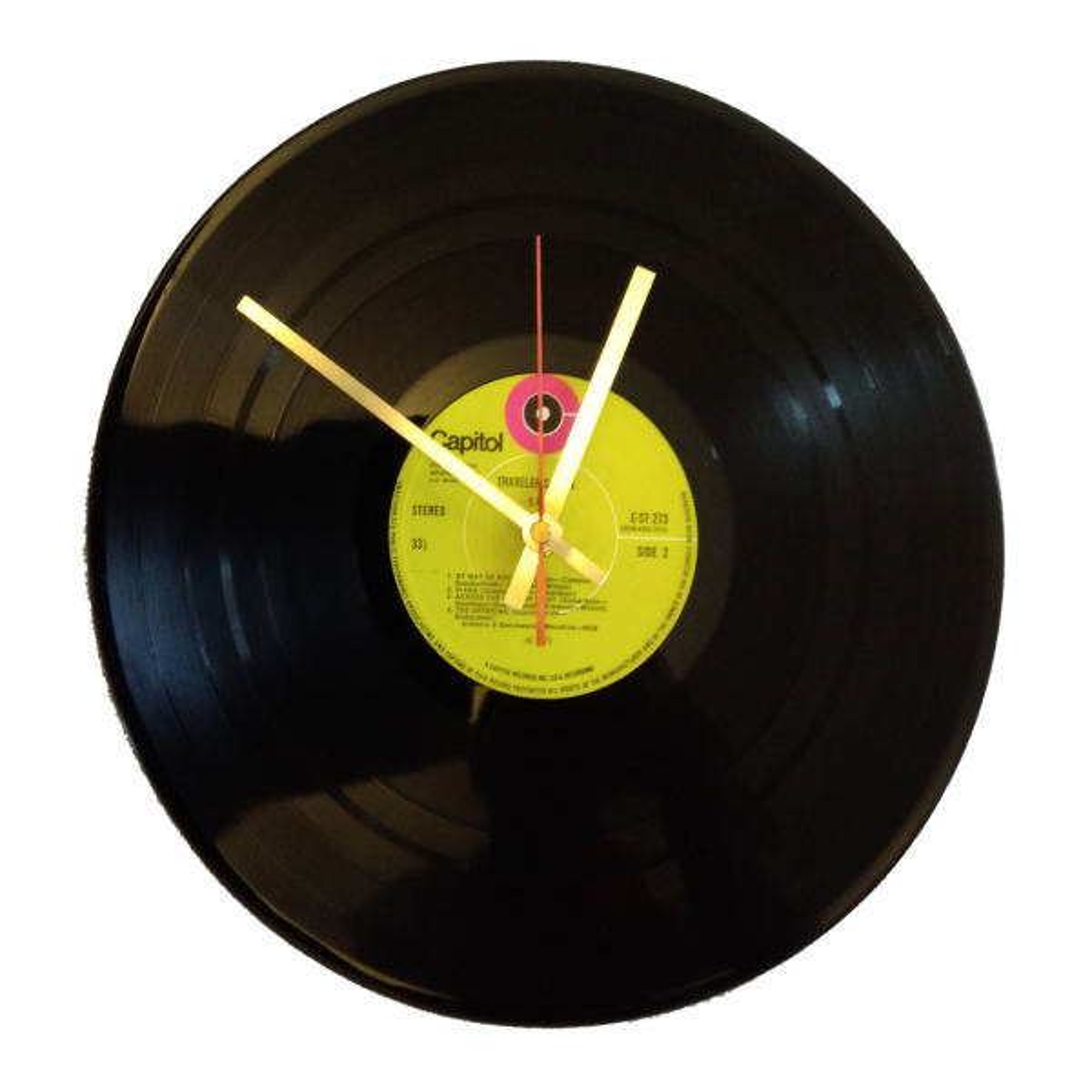 ساعت صفحه گرام 33 دور مدل تراولرز تیل سایز40 × 40