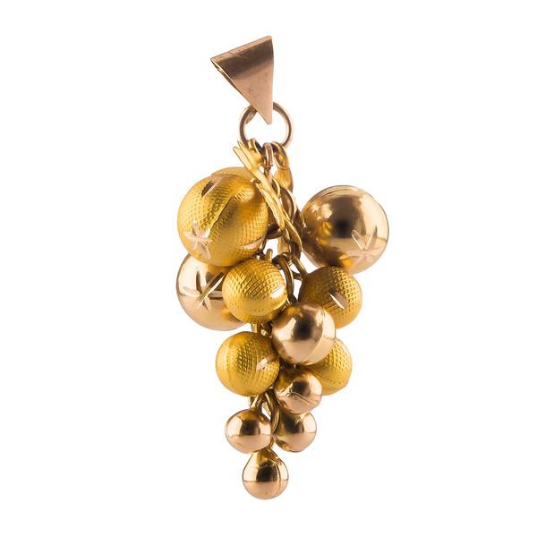 آویز گردنبند طلا 18 عیار گالری طلاچی مدل خوشه انگور