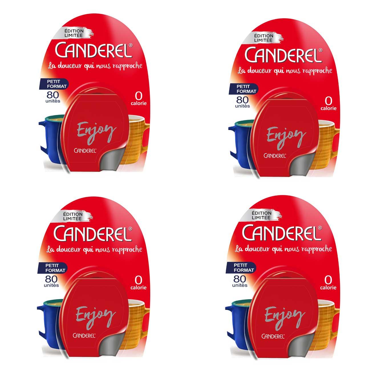 شیرین کننده رژیمی کاندرل مدل Enjoy بسته 4 عددی