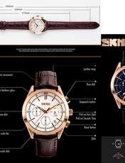 ساعت مچی عقربه ای مردانه اسکمی مدل 9127 کد 02 -  - 3