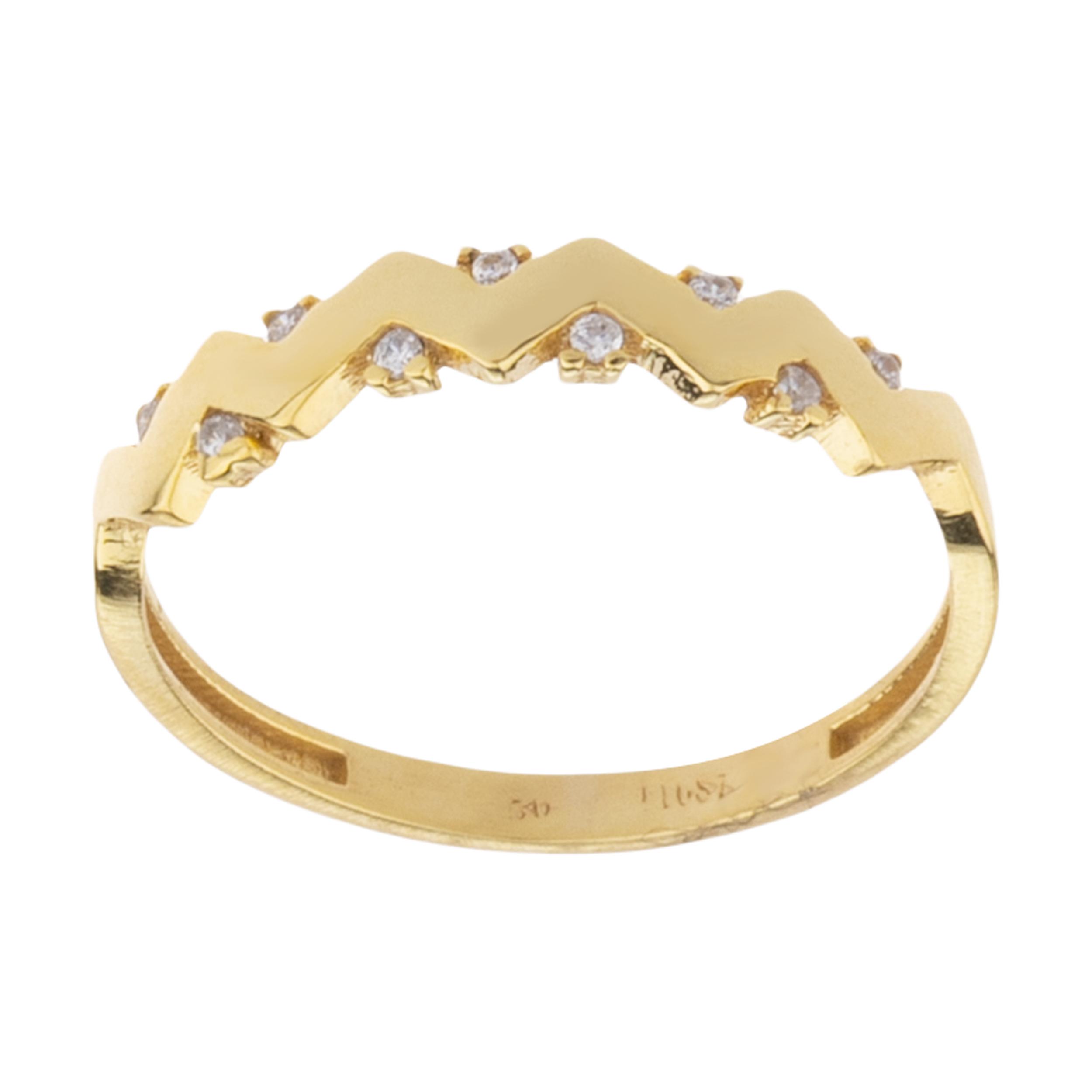 انگشتر طلا 18 عیار زنانه کانیار گالری کد AT27