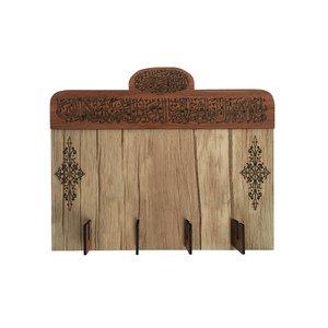 جاکلیدی دیواری چوب آرا مدل و ان یکاد