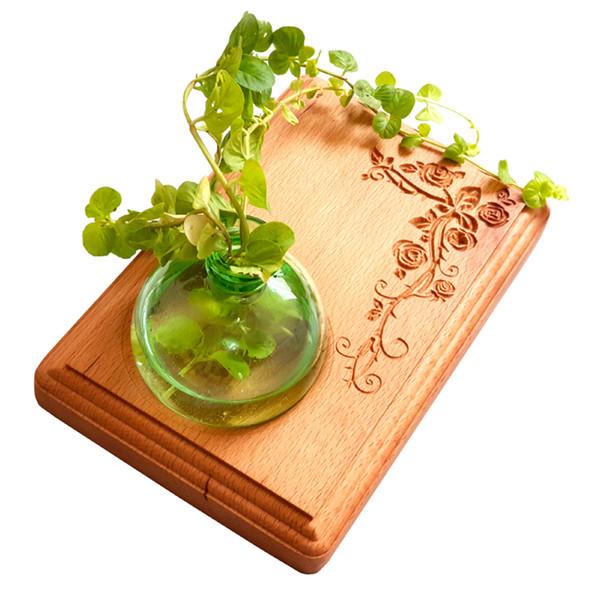 گلدان چوبی تی دار مدل Vt07