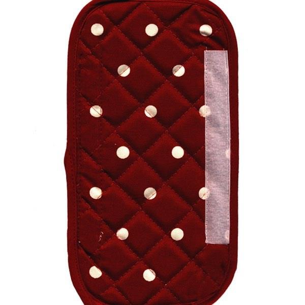 دستگیره یخچال کتان 30 × 15 رزین تاژ طرح خالدار قرمز