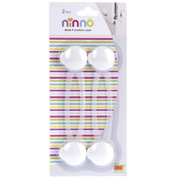 قفل چند منظوره نینو مدل دکمه ای سایز بزرگ بسته 2 عددی