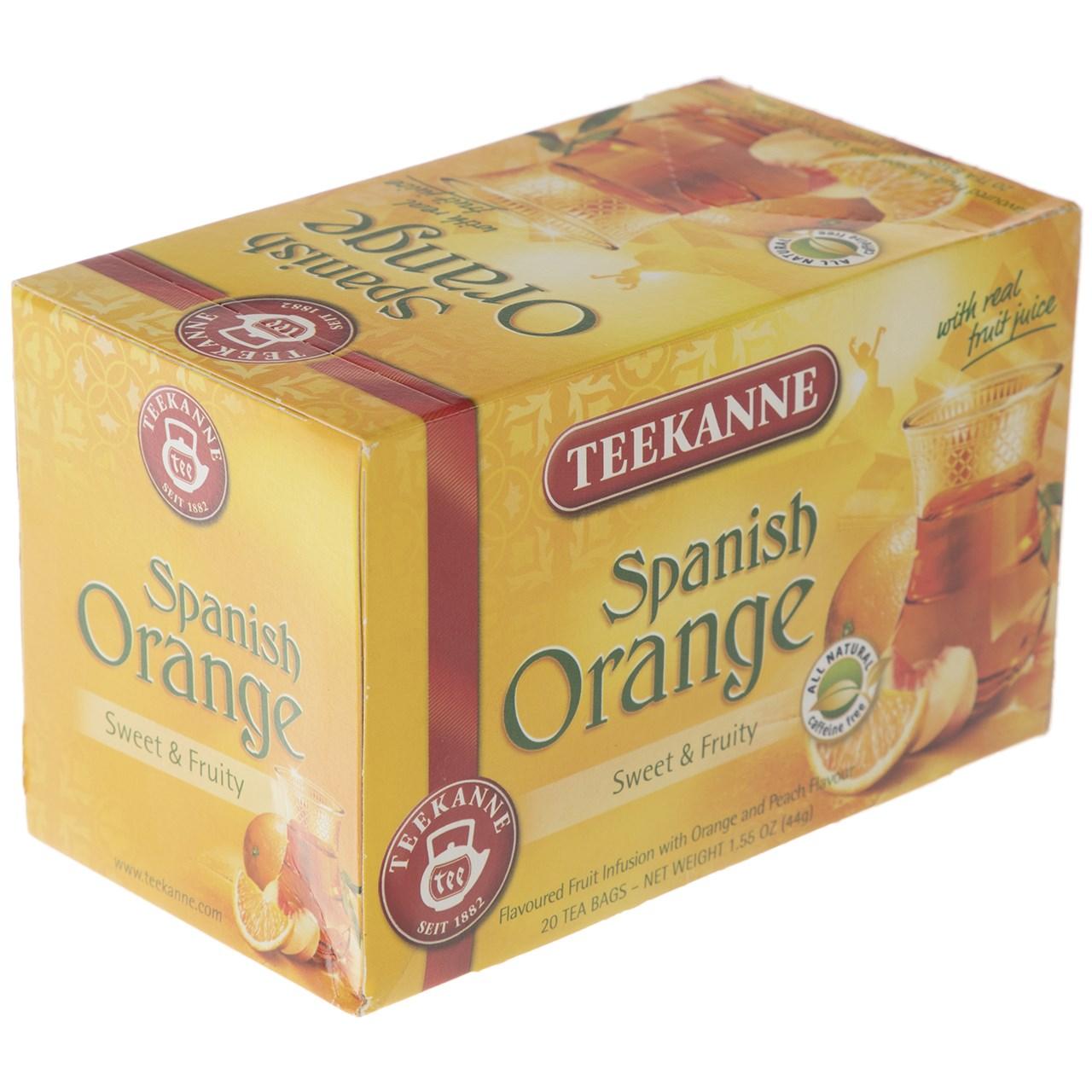 چای کیسه ای تی کانه مدل Spanish Orange بسته 20 عددی