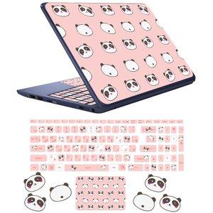 استیکر لپ تاپ مدل پاندا کوچولو کد 04 مناسب برای لپ تاپ 17 اینچ به همراه برچسب حروف فارسی کیبورد
