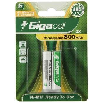 باتری نیم قلمی قابل شارژ گیگاسل مدل 800mAh بسته 2 عددی