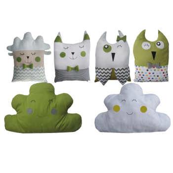 سرویس 6تکه محافظ تخت کودک دالی مدل Cute-Animals